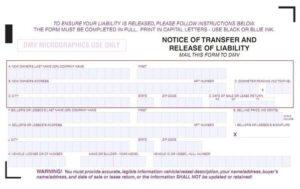 Dmv Release Of Liability >> Release Of Liability Dmv Reg 138 Transfer Car Title