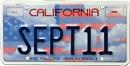 9-11 Memorial License Plate
