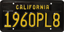 Black & Yellow Personalized License Plate