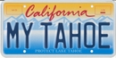 Lake Tahoe Personalized License Plate