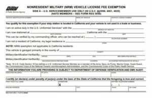 Military Vehicle Registration Discount